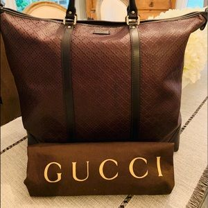 Gucci Medium Hilary Lux Diamante Leather Tote